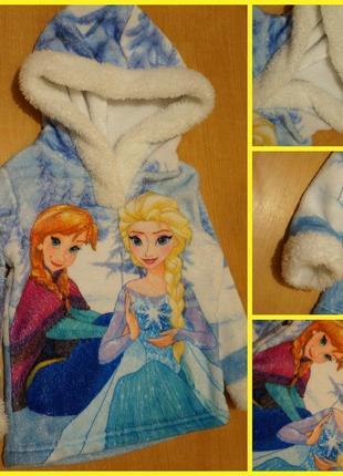 """Disney махровая кофта ( пайта ) 2-4 года """"холодное сердце """""""