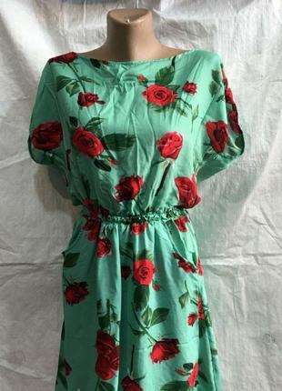 Платье штапельное