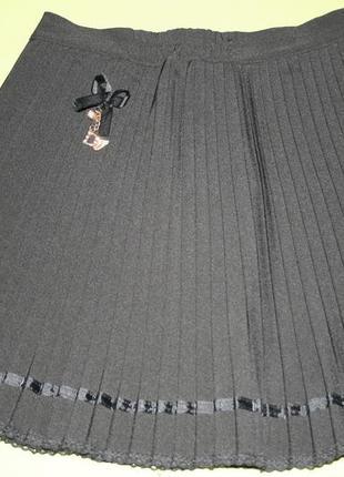 Школьная юбка плиссе, рост 150-160см