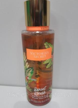 Мист парфюмированный спрей для тела  sunset crush fragrance mist виктория сикрет