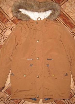 Брендовая стильная деми куртка парка   rebel