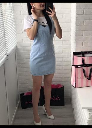Джинсовый платье от new look