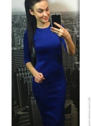 Гарна трикотажна сукня міді