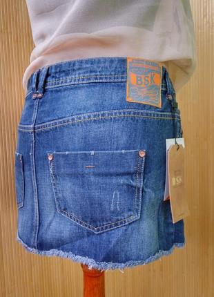 Джинсовая юбка мини bershka3 фото