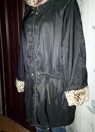Бомба!!!двухсторонняя куртка-шубка на королеву!!!