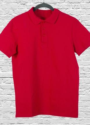 Красная футболка поло однотонная, однотонная футболка поло женская
