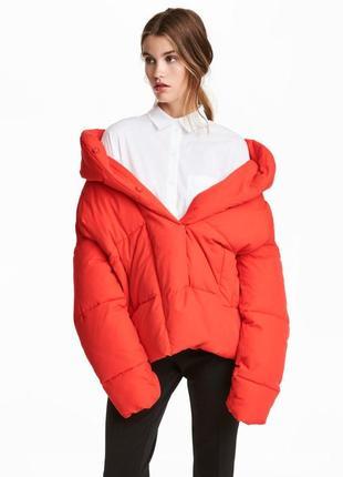 Объёмная оверсайз куртка,пуховик h&m