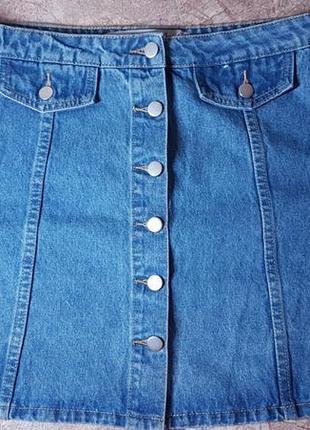 Крутая джинсовая юбка denim co 16 размер