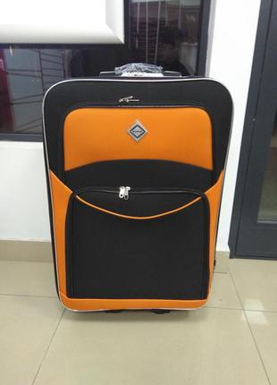 Дорожный чемодан оранжевый 5 колес с расширением