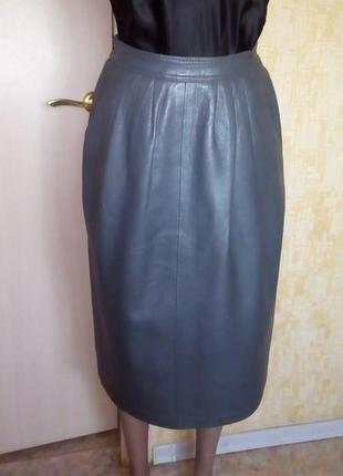 Шикарная юбка из 100 % мягчайшей кожи/юбка кожаная/юбка/кожаная юбка
