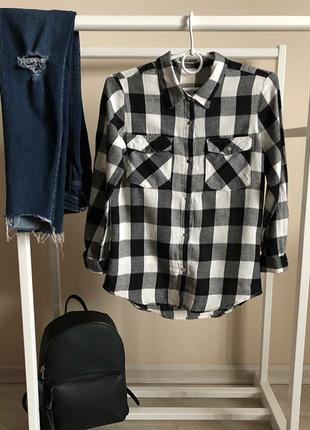 Рубашка в клетку. женская рубашка в клеточку