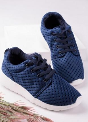 Синие кеды летние кроссовки в сеточку