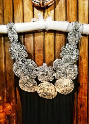 Krisp. платье сарафан длинный с объёмными цветами фатин вискоза