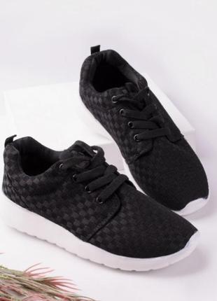 Черные кеды летние кроссовки