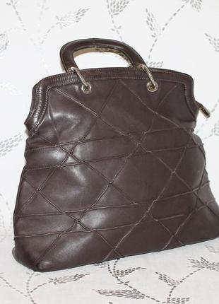 Большая кожаная сумка fellini