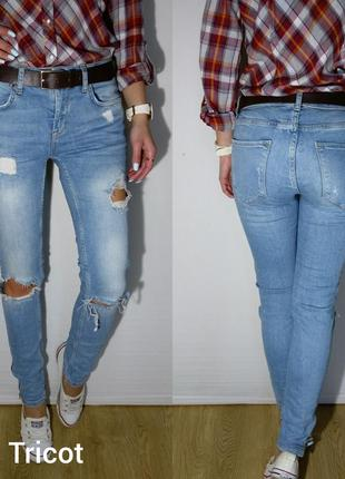 Крутые плотненькие джинсики gina tricot