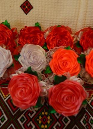 Розы заколка или резинка