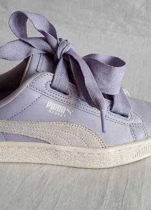 Кроссовки кеды puma basket heart р.35-36 кожа оригинал