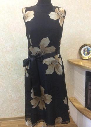 Платье вечернее в цветы