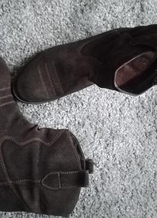 Крутые замшевые ботинки-ковбойки!