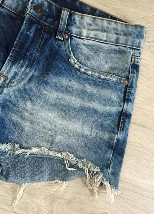 Джинсовые шорты с завышенной талией3 фото