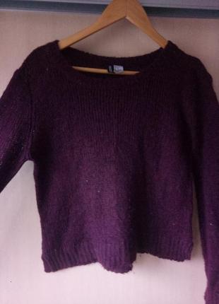 Бордовый свитер