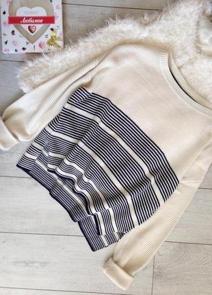 Шикарный джемпер свитер с разрезами по бокам