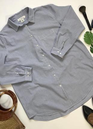 Простая базовая рубашка оверсайз бойфренда от h&m размер xl/14/42.
