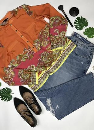 Яркая блуза в модный платочный принт от h&m размер s/36/8.