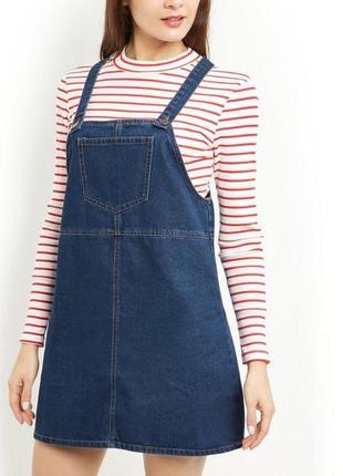 Актуальный джинсовый сарафан new look 18--52-54 размер.