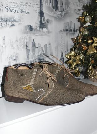 Ботинки коричневого цвета на шнуровке в этническом стиле от kiboots {39 размер}