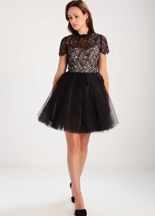 Шикарное коктейльное платье derhy с пышной юбкой