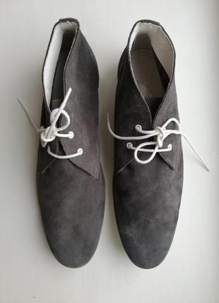 Натуральные замшевые туфли 42 san marino