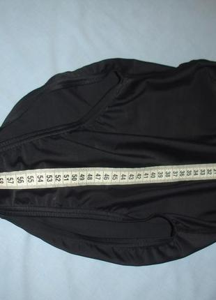 Купальник спортивный черный в бассейн размер 40-42 / 6 сдельный цельный сплошной3