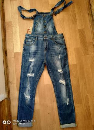 Комбинезон джинсовый рванка