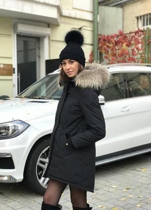 🌿 черная парка с капюшоном демисезон bershka • куртка • пальто • курточка