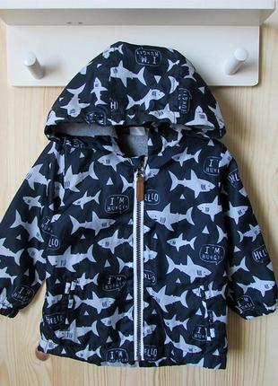 """Куртка f&f в """"акулы"""" на 9-12 мес"""
