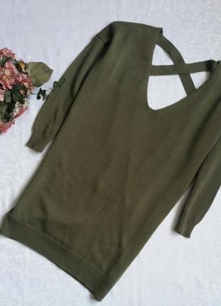 Трендовый свитер платье открытая спина in the style s--44-46 размер.