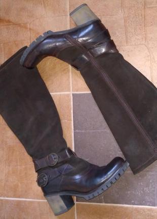 Сапоги marco tozzi 40 размер натуральная кожа и замша