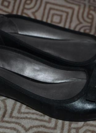 Женские туфли clarks 24 см 37 размер кожа англия отл сост
