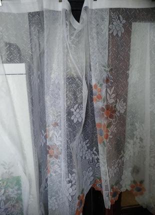 Гардина занавеска тюль на кухонное окно 2,90/1,70