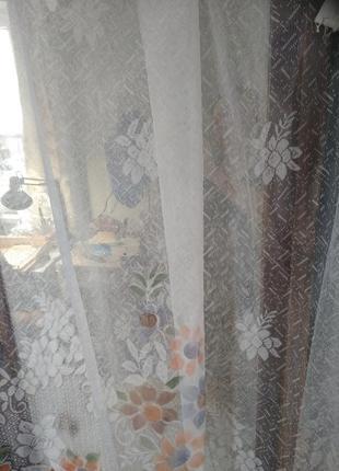 Гардина занавеска тюль на кухонное окно 2,90/1,702 фото