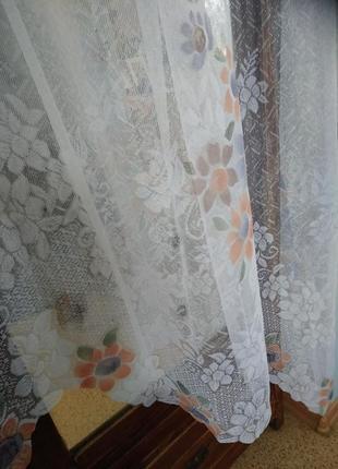 Гардина занавеска тюль на кухонное окно 2,90/1,703