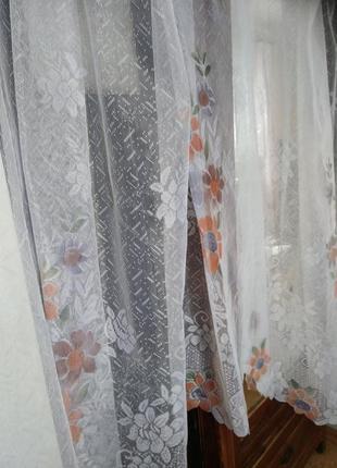 Гардина занавеска тюль на кухонное окно 2,90/1,704 фото