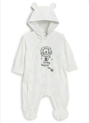 Флисовый человечек на подкладке новорожденным
