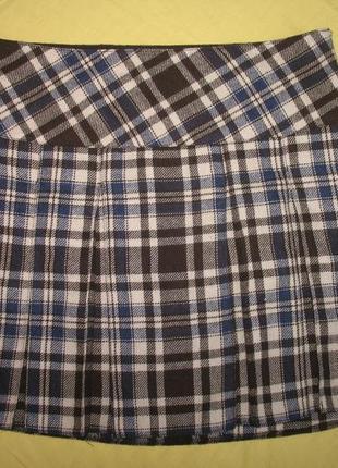 """Классная юбка в клетку размер 42 """"outfit""""  германия 30% шерсть"""