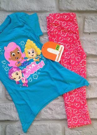 Наборчик для девочки футболка и лосины