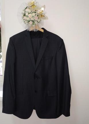Тёмно-синий классический костюм от marco renci italian