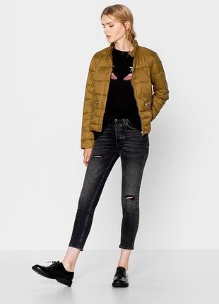 Стильная,стеганная куртка,дутая куртка с скрытым капюшоном,демисезонная
