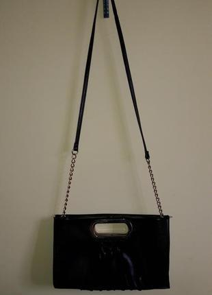 Черный женский клатч new look